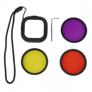 Freewell Diving Filter Set with Adapter for GoPro HERO4 Session - Red, Yellow and Magenta