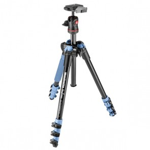 Manfrotto BeFree Compact Travel Aluminum Alloy Tripod (Blue)