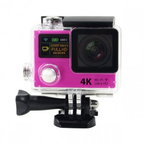 4K WIFI Action Camera with Dual Screen (Pink)