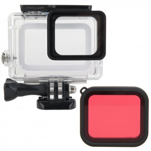Waterproof Housing for GoPro HERO5 and HERO6 with Red Filter COMBO