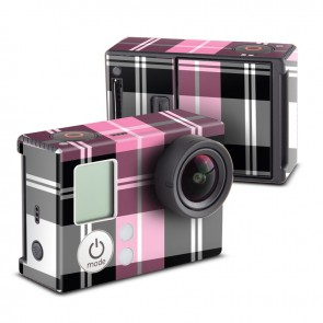 Pink Plaid Skin for GoPro HERO3 and HERO3+