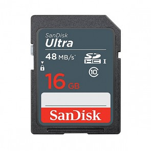 SanDisk 16GB Ultra UHS-I SDHC Memory Card (48MB/s)
