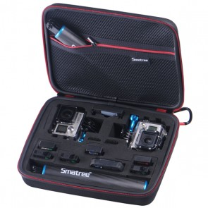 Smatree SmaCase G260SL Long Compartment EVA Carrying and Travel Case for Action Cameras (BLACK)