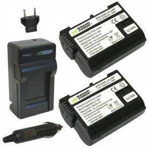 Wasabi Power Battery (2-Pack) and Charger Kit for Nikon EN-EL15