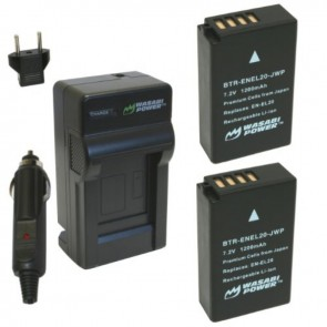 Wasabi Power Battery (2-Pack) and Charger Kit for Nikon EN-EL20