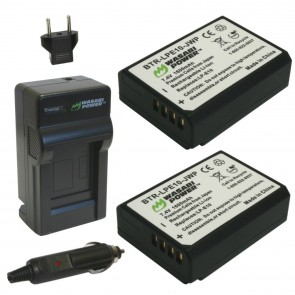 Wasabi Power Battery (2-Pack) and Charger Kit for Canon LP-E10