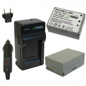 Wasabi Power Battery (2-Pack) and Charger Kit for Canon NB-7L