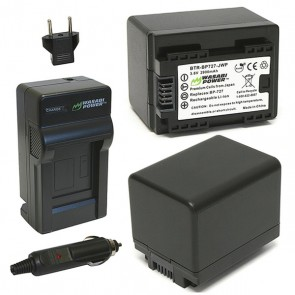 Wasabi Power Battery (2-Pack) and Charger Kit for Canon BP-727