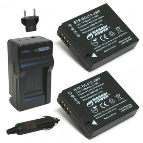 Wasabi Power Battery (2-Pack) and Charger Kit for Panasonic DMW-BCJ13, DMW-BCJ13E, DMW-BCJ13PP,