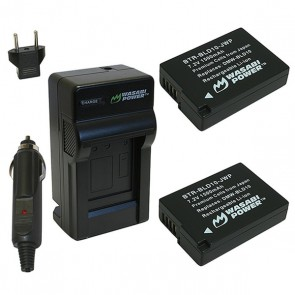 Wasabi Power Battery (2-Pack) and Charger Kit for Panasonic DMW-BLD10