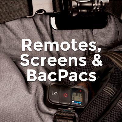 Remotes Screens & Bacpacs