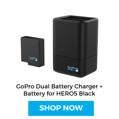 Shop GoProDual Battery Charger + Battery for HERO5 Black