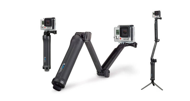 The New GoPro 3-Way Mount - Compact and Versatile