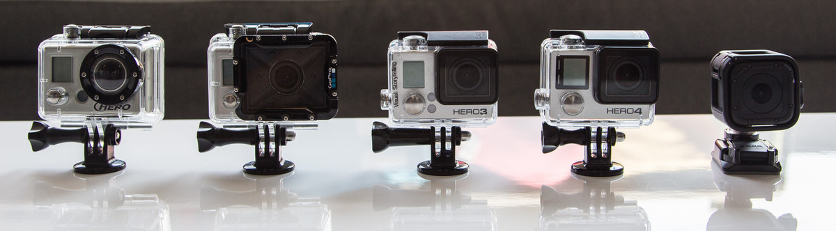 GoPro HERO4 Session  Size Comparison