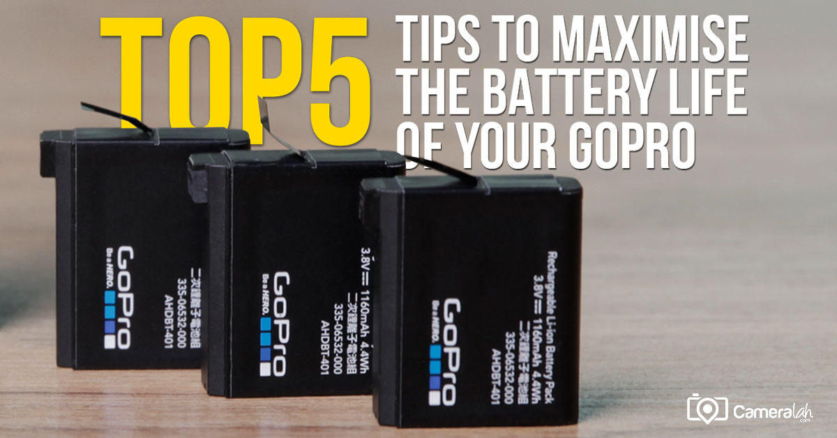 Top 5 Tips to Maximise the Battery Life of your GoPro Action Camera